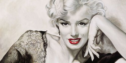 00baced54be9 Marilyn Monroe Red lipstick - The UK Art Depot Shop