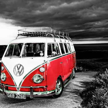 VW-camper-van-b+w-to-red