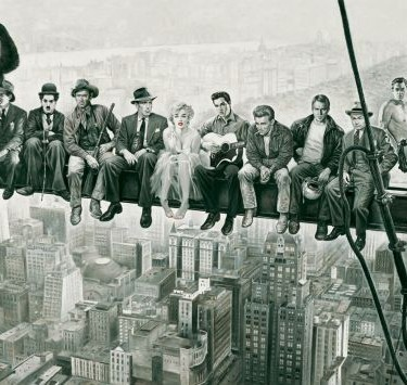 lunchtime on a skyscraper -Famous Stars