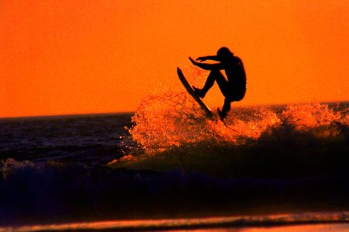 orange sunset surf