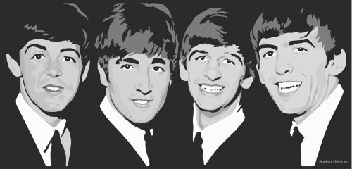 the beatles greyscale