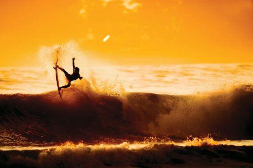 yellow sunset surf
