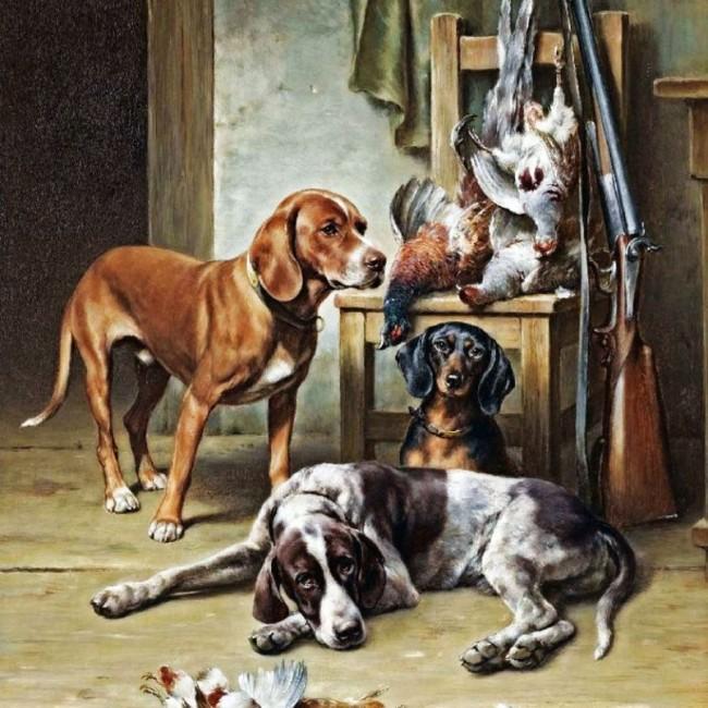 hunting dogs gun rack