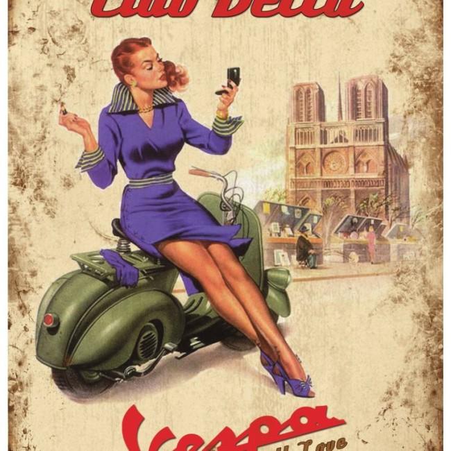Ciao Bella Vespa Poster