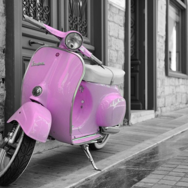 Candy Pink Vespa