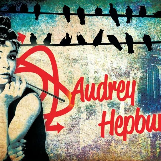 Audrey Hepburn City Artwork