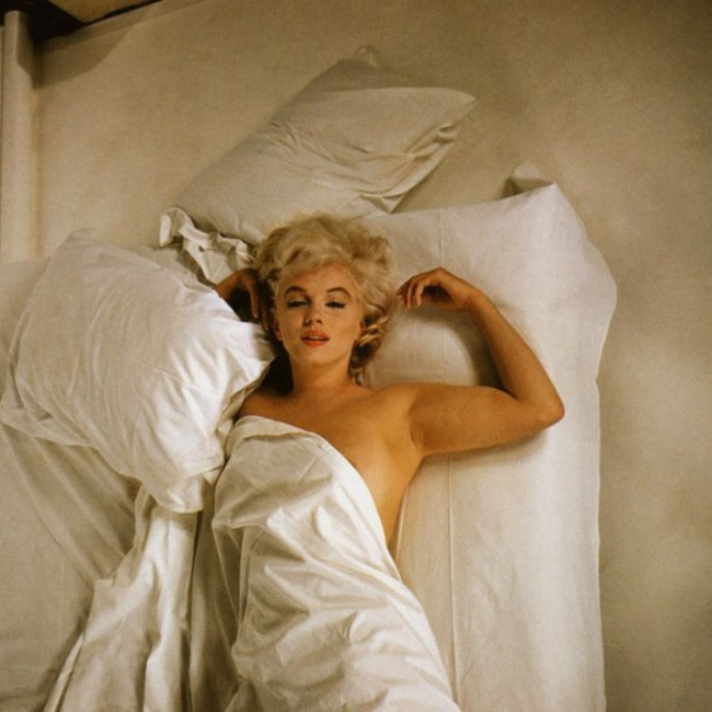 In bed with Marilyn