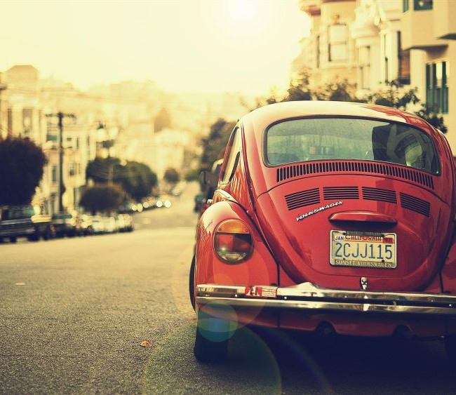 Old Red Beetle
