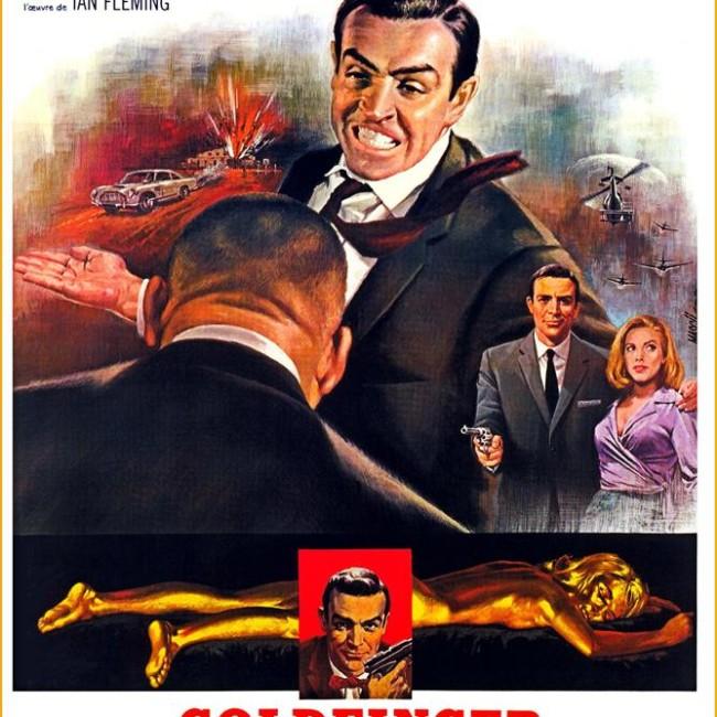 Goldfinger French James Bond Poster