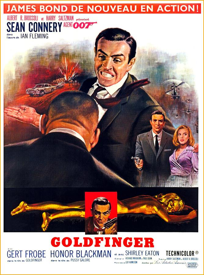 James Bond 007 Goldfinger Movie Poster Canvas